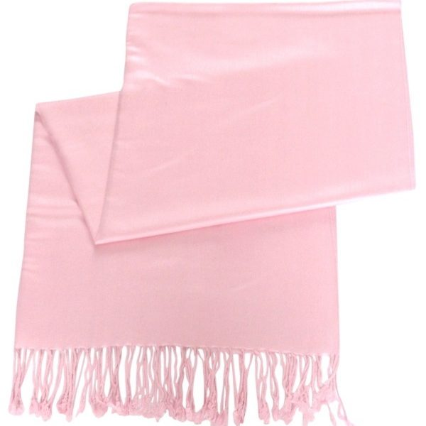 Baby Pink Solid Color Design Pashmina Shawl Scarf Wrap Stole Shawls Pashminas Scarves NEW a1004-348