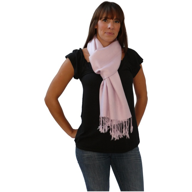52d97566239 Baby Pink Solid Color Design Pashmina Shawl Scarf Wrap Stole Shawls  Pashminas Scarves NEW a1004-