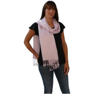 Baby Pink Solid Color Design Pashmina Shawl Scarf Wrap Stole Shawls Pashminas Scarves NEW a1004-352