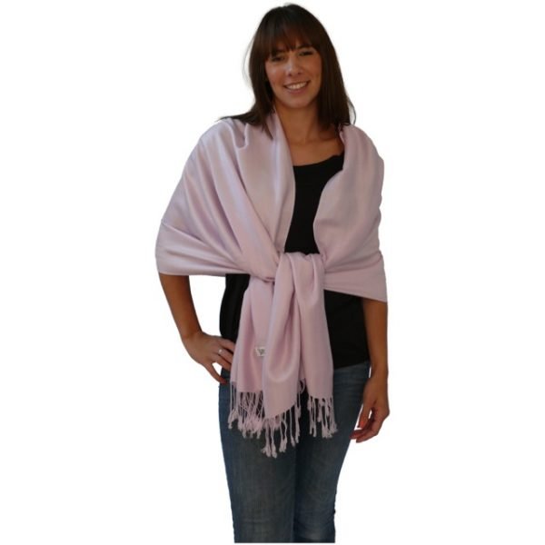 Baby Pink Solid Color Design Pashmina Shawl Scarf Wrap Stole Shawls Pashminas Scarves NEW a1004-351