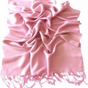 Baby Pink Paisley Pattern Design New High Quality Twill Weaved Solid Color Shawl Scarf a2008-430