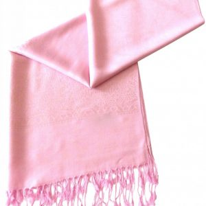 Baby Pink Paisley Pattern Design New High Quality Twill Weaved Solid Color Shawl Scarf a2008-199
