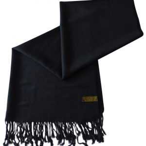 Black Solid Color Design Pashmina Shawl Scarf Wrap Stole Shawls Pashminas Scarves a1008-369