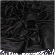 Black Solid Color Design Pashmina Shawl Scarf Wrap Stole Shawls Pashminas Scarves a1008-370