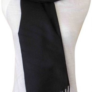 Black Solid Color Design Pashmina Shawl Scarf Wrap Stole Shawls Pashminas Scarves a1008-371