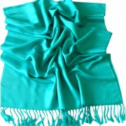 Blue Green Solid Color Design Pashmina Shawl Scarf Wrap Pashminas Shawls NEW a1010-358