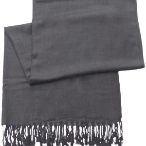 Dark Grey Solid Color Design Pashmina Shawl Scarf Wrap Pashminas Shawls Scarves Wraps NEW a1038-241