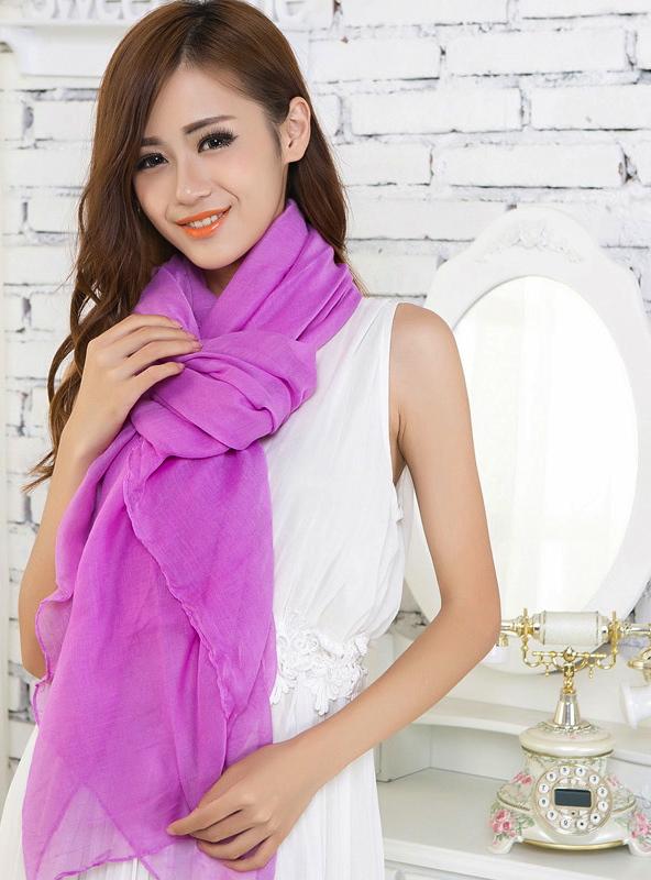 Purple Large Size Fashion Voile Pashmina Shawl Scarf Wrap (5 Colors) a1316-276