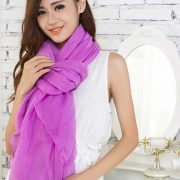 Purple Large Size Fashion Voile Pashmina Shawl Scarf Wrap (5 Colors) a1316-730