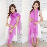 Purple Large Size Fashion Voile Pashmina Shawl Scarf Wrap (5 Colors) a1316-731