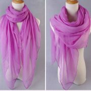 Purple Large Size Fashion Voile Pashmina Shawl Scarf Wrap (5 Colors) a1316-732