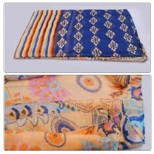 Blue & Gold Multi Color Hovsgol Design Voile Pashmina Shawl Scarf Wrap (6 Colors) a1504-766