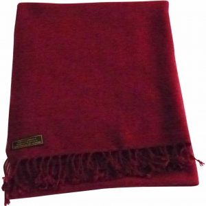 Maroon High Grade 100% Cashmere 2 Ply Shawl Hand Made from Nepal Scarf Wrap NEW a5040-875