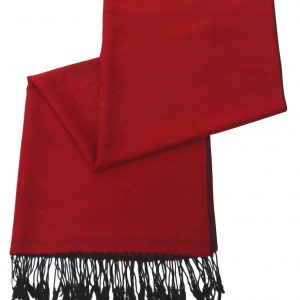 Red & Black Solid Color Design Pashmina Shawl Scarf Wrap Pashminas Shawls Scarves Wraps a1106-188