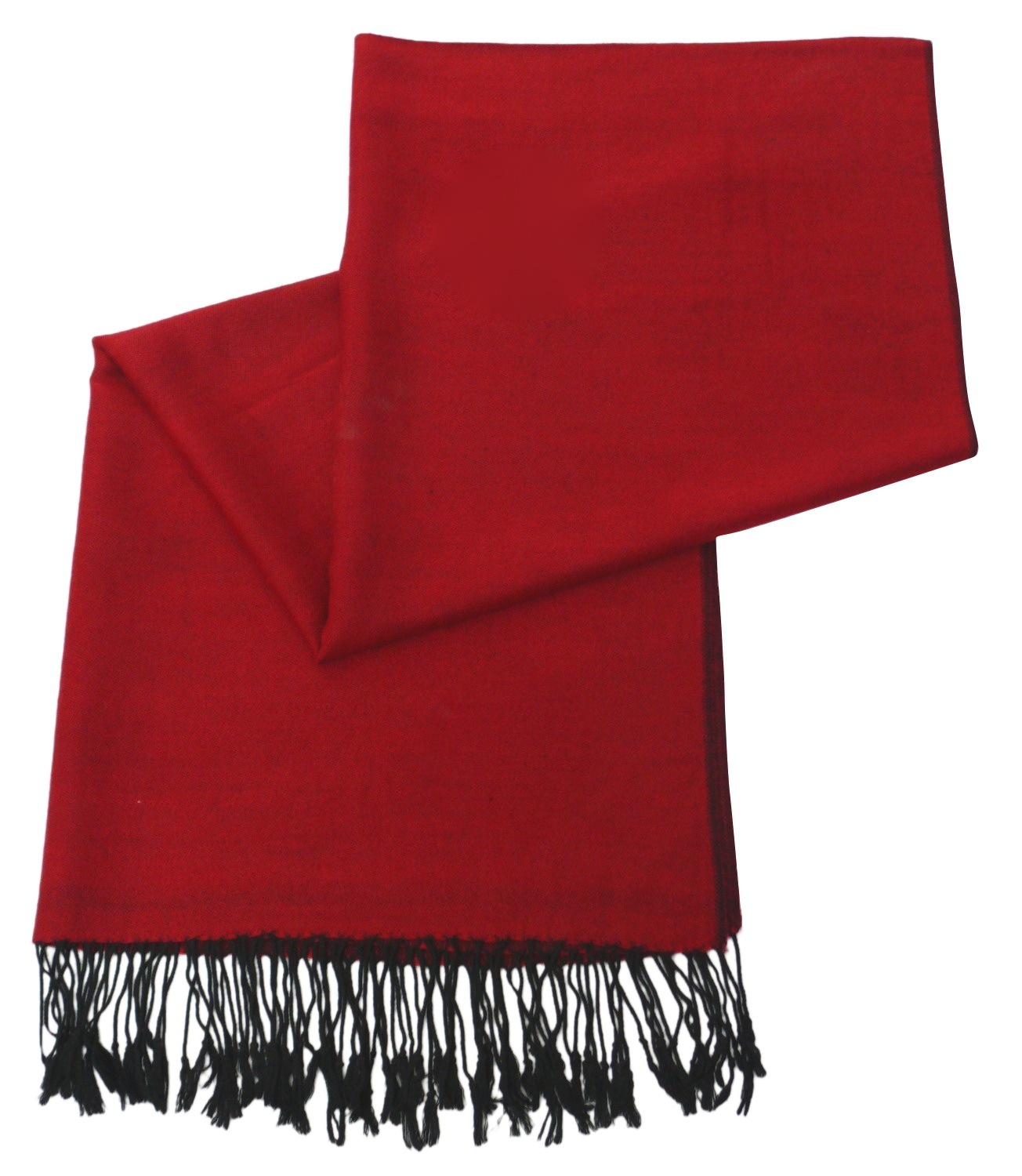 Red & Black Solid Color Design Pashmina Shawl Scarf Wrap Pashminas Shawls Scarves Wraps a1106-401