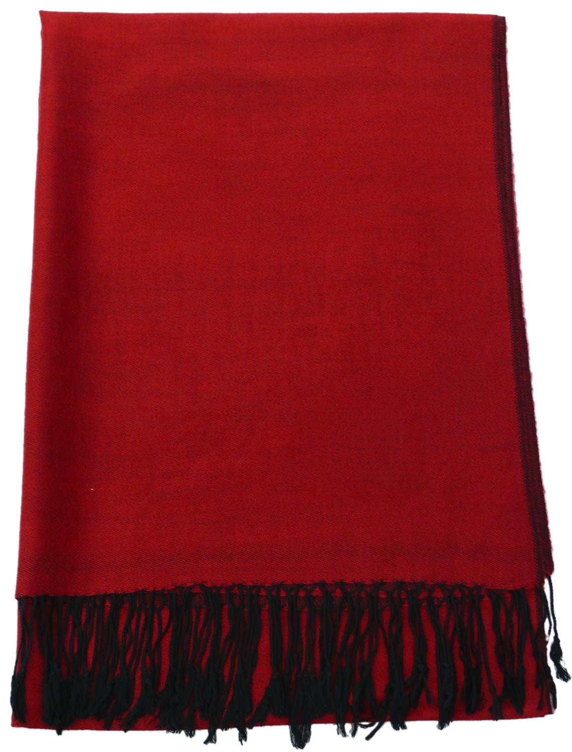 Red & Black Solid Color Design Pashmina Shawl Scarf Wrap Pashminas Shawls Scarves Wraps a1106-402