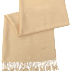Rich Cream Solid Color Design Pashmina Shawl Scarf Wrap Pashminas Shawls Scarves Wraps NEW a1108-189