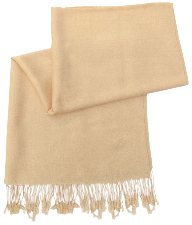 Rich Cream Solid Color Design Pashmina Shawl Scarf Wrap Pashminas Shawls Scarves Wraps NEW a1108-189