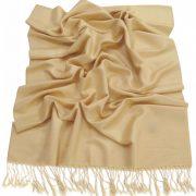 Rich Cream Solid Color Design Pashmina Shawl Scarf Wrap Pashminas Shawls Scarves Wraps NEW a1108-404