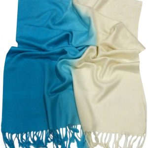 Turquoise Two Tone Design Pashmina Shawl Scarf Wrap Pashminas Shawls NEW a3100-240