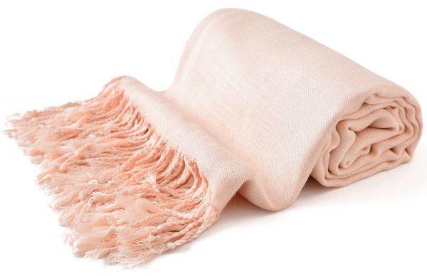 CJ Apparel Beige Solid Colour Design 100/% Wool 2 Ply Shawl Pashmina Seconds NEW